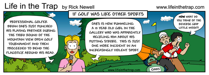 GolfCartoons_Sports_Fighting